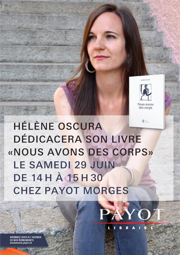 Hélène Oscura_Dédicace Payot_Morges